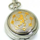 English Lion Skeleton Mechanical Pocket Watch, PERSONALISED ref PWENGSK